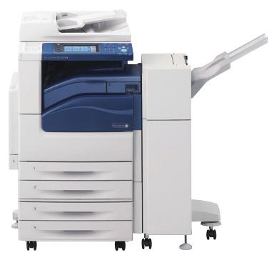 DocuCentre-IV C2263 N với bốn khay đựng giấy chứa 500 tờ và bộ finisher B1