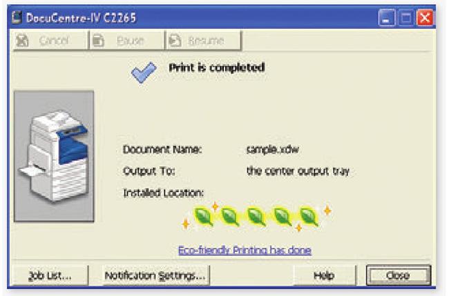 Thông báo in ấn tiết kiệm