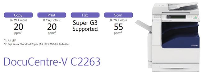 Thông số chung của thiết bị DocuCentre-V C2263