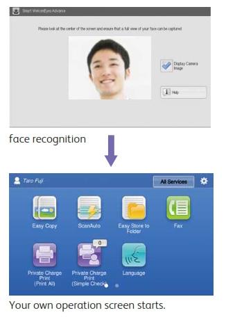 Nhận diện khuôn mặt để hiển thị màn hình riêng