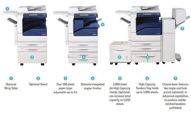 Các sự lựa chọn đa dạng về khay chưa giấy