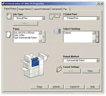 Giao diện điều khiển in ấn tối ưu