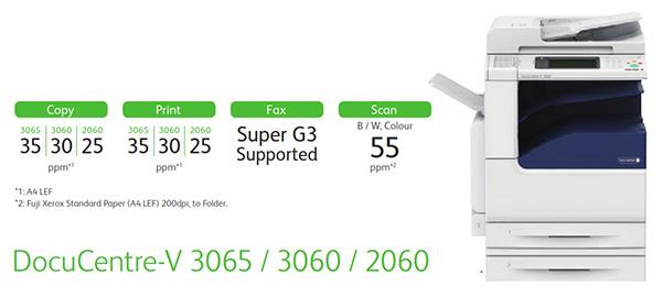 Thông số cơ bản của DocuCentre-V 3065/3060/2060