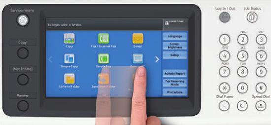 Hỗ trợ màn hình cảm ứng điện dung