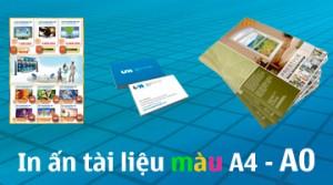In ấn tài liệu màu A4 – A0, đóng sổ, làm catalogue